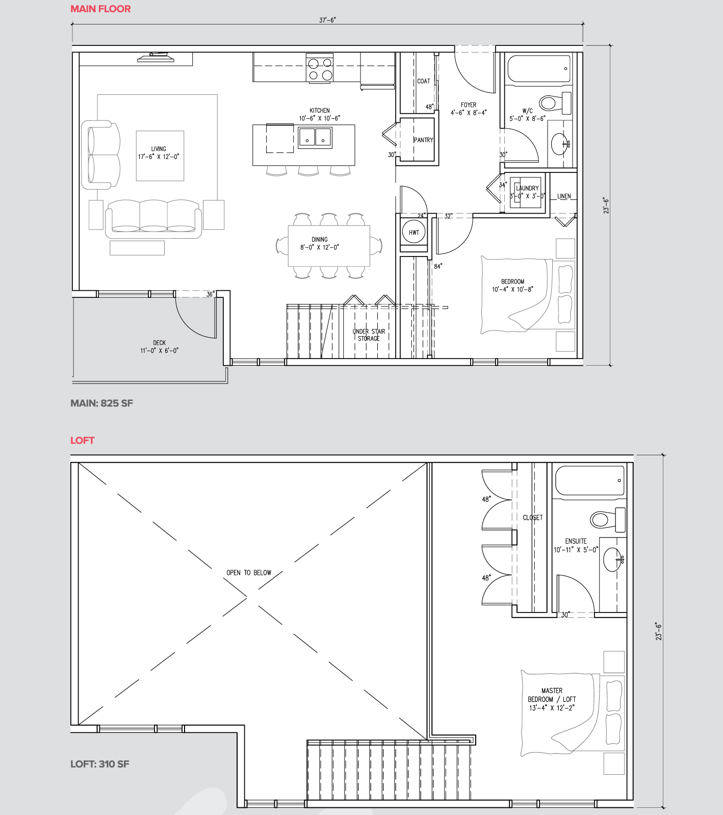 2 bedroom loft suite unit G