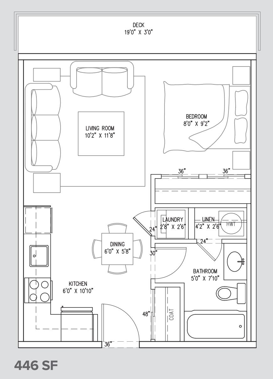 studio suite unit A2