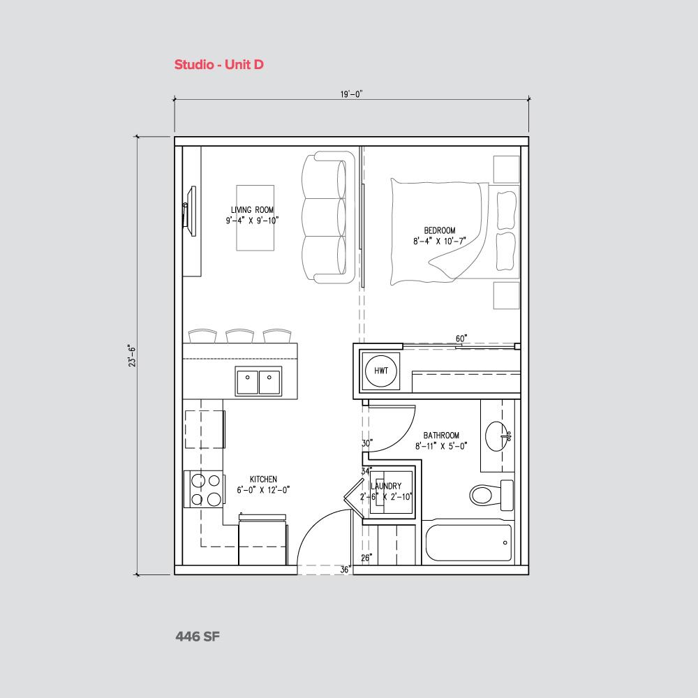 studio suite unit D